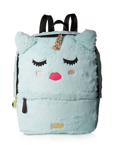 Betsey Johnson Large Back to School Travel Luggage Backpack Purse Book Tote Bag