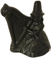 Black Witch Playing Harp Made From Coal From Whales, United Kingdom Vintage