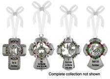 Metal Christmas Cross Tree Ornament YOU CHOOSE! Family Members Christian NEW!