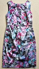 Basque Dress 10 sleeveless wedding party occasion floral pretty as New Sale