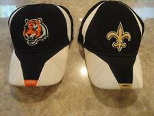 (2) NFL Cincinatti Bengals and New Orleans Saints Caps. Authentic Reebok