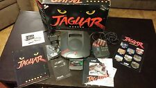 Atari JAGUAR Black Console System NTSC COMPLETE IN BOX with a few extra
