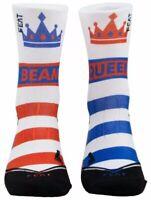 Gymnastics Beam Queen Socks- Feat By Aly Raisman Red White & Blue Women's 6-9