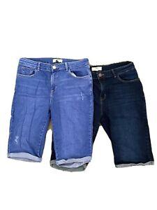 2x Dorothy Perkins Tall Knee Length Shorts Size 14