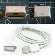 Adapter Micro USB or 30-Pin Female to 8-Pin Male Lightning for iPHONE 5-11+Cable