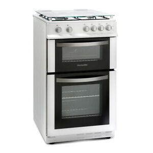 Montpellier Gas Double Oven Cooker MDG500LW 50cm White Unboxed COLLECTION ONLY