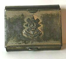 WW2 Era Scots Guards Cigarette case tin  75 x 65 mm