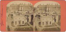 Paris Ruines de la Légion d'honneur Photo Stereo Vintage Albumine ca 1870