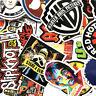 52pcs Cool Skateboard Stickers Bulk Pack Snowboard Vinyl Decor Decals Black