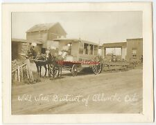 HORSE DRAWN ICE CREAM WAGON ca1890s Atlantic City NJ 8x10 PHOTO Ice Cream Johnny