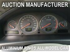 Volvo V70 V 70 01-03 Chrome Gauge Trim Dial Rings Polished Alloy New x4