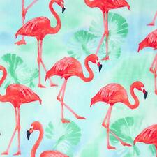 Robert Kaufman Flamingo Paradise Tropical Exotic Bird and Palm Leaf Fabric