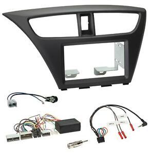 Einbauset Lenkradadapter Doppel DIN Autoradio für Honda Civic ab 12 schwarz