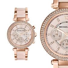 Michael Kors Uhr Damenuhr MK5896 Rosegold Edelstahl Chronograph Armbanduhr