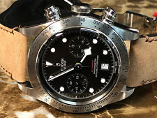 Tudor Heritage Black Bay Chrono Auto 41mm Acier Homme Bracelet Montre 79350