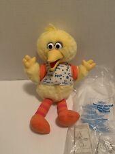 "Sesame Street Big Bird TALKING Peek a Boo Plush Tyco 16"" Playtime 1996"