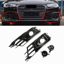 Fit For AUDI A6 C7 2015-2017 Front Bumper ACC Grille+Radar Sensor Decorate Shell