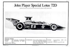 Revell Entex Master Modeler Lotus 72d 1/8 Scale JPS JOHN PLAYER SPECIAL MANUAL