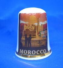 Birchcroft China Thimble -- Travel Poster Series - Morocco - Dome Gift Box