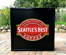 Seattle'S Best Coffee Fluorescent Light -Coffee Shop / Retail Store Display Sign