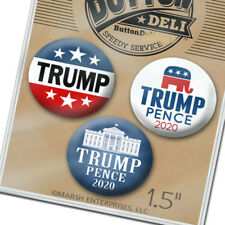 "1.5"" 3-pack Donald Trump Mike Pence Buttons President 2020 Republican Lot pins"