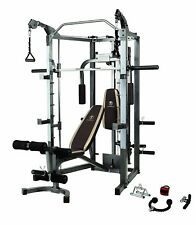 BEST PRICE - Home Gym Cage Machine Workout Bench Weight Bar Home Gym Equipment