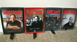 4 HBO THE SOPRANOS COMPLETE SEASON DVD 1 / 2 / 5 / 6 ONE TWO FIVE SIX PART 2 MOB