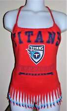 Ladies Tennesee Titans Reconstructed NFL Football Shirt Halter Top DiY