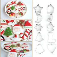 Xmas Fondant Cake Cutter Cookie Biscuit Mold Sugarcraft Baking Decorating Mould