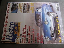 µ? Revue Retro Hebdo n°4 Panhard 17 b Ford Mustang 289 Somua OP5 G.Monneret