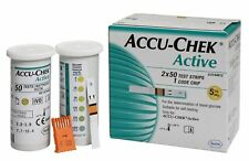 PACK OF 100 ACCU CHEK ACTIVE STRIPS FOR CHECK THE BLOOD GLUCOSE LONG EXPIRY