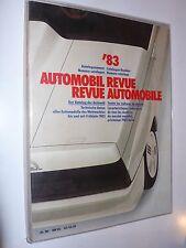 Automobil Revue Katalog-Nummer 1983 Jahresausgabe