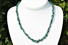 "CHARGED Premium Malachite Crystal Chip 18"" Necklace Healing Energy REIKI WOW!!!"