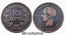 10 Lepta 1869 BB, Grèce / Greece. George I°. Cuivre/ Copper.