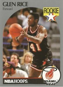 Glen Rice Hoops 1990/91 RC Rookie Basketball Card #168