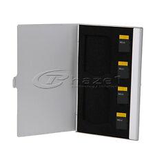 6 in 1 Aluminium Storage Case | Micro Sim + Micro / Full SD Memory Cards Silver