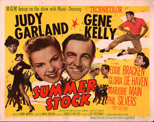 Summer Stock Lobby Card - Title Card - Judy Garland  - Gene Kelly - 1950  - VF
