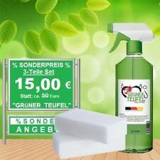 Enzymreiniger + 2x Spezialschwämme # Grüner Teufel # 500 ml mit Sprühkopf