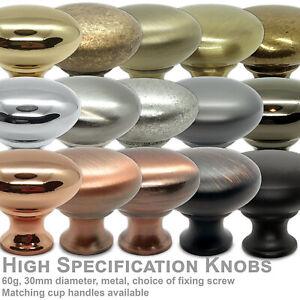 Round Metal Drawer Knob 30mm Handle Cupboard Cabinet Door Furniture UK stock