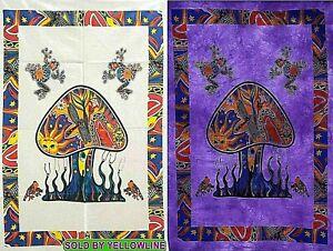 2 piece Mushroom Tapestry Bohomen Indian Wall Hanging Wholesale (77cmX102cm)WP-2