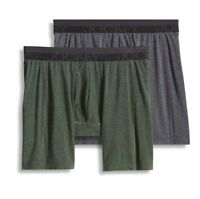 Jockey Sport Outdoor 2-Pack Gray/Green Midway Briefs 95% Polyester Underwear