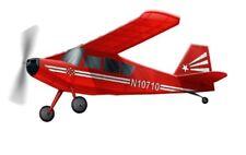 Siva Bellanca Citabria Gummimotormodell Flugzeug Kit aus Balsa