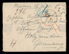 DR WHO 1918 GERMANY WWI CENSORED POW MAIL C186617