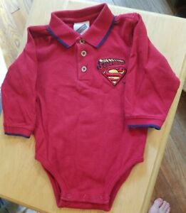 Vintage limited Edition Warner Bros Studio Store Superbaby Red baby outfit 12M