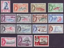 Turks & Caicos Islands 1957 SC 121-135 MH Set