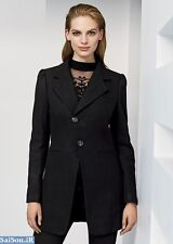 Next Black Wool Blend Frock Coat 16