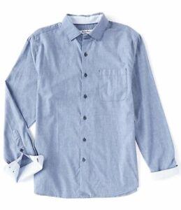Tommy Bahama Long Sleeve Men's Shirt Size 2XLT Heather Bay Herringbone NWT $148+