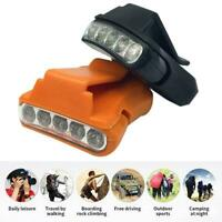 5 LED Clip on Peak Head Lamp Headlight Hat Cap Light Flashlight Fishing U7U4