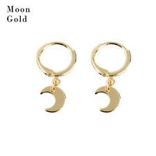 Women Dangle Star Cross Small Huggie Hoop Earrings Ear Piercing Earring Jewelry