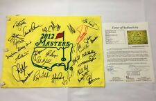2012 Masters Champions Signed Flag Palmer, Nicklaus, Player, Mickelson +25 JSA